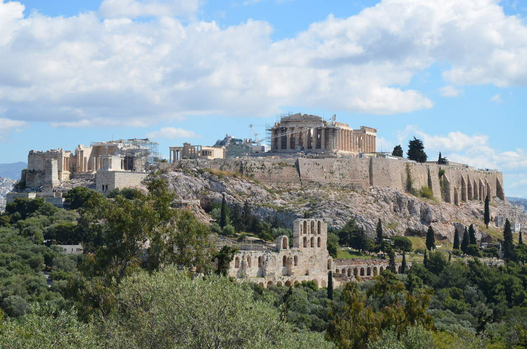 Acropolis of Athens: Ancient citadel above the city of Athens, Greece
