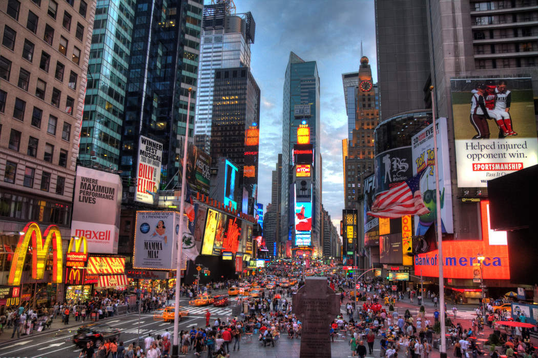 Times Square: Neighborhood in Manhattan in New York City