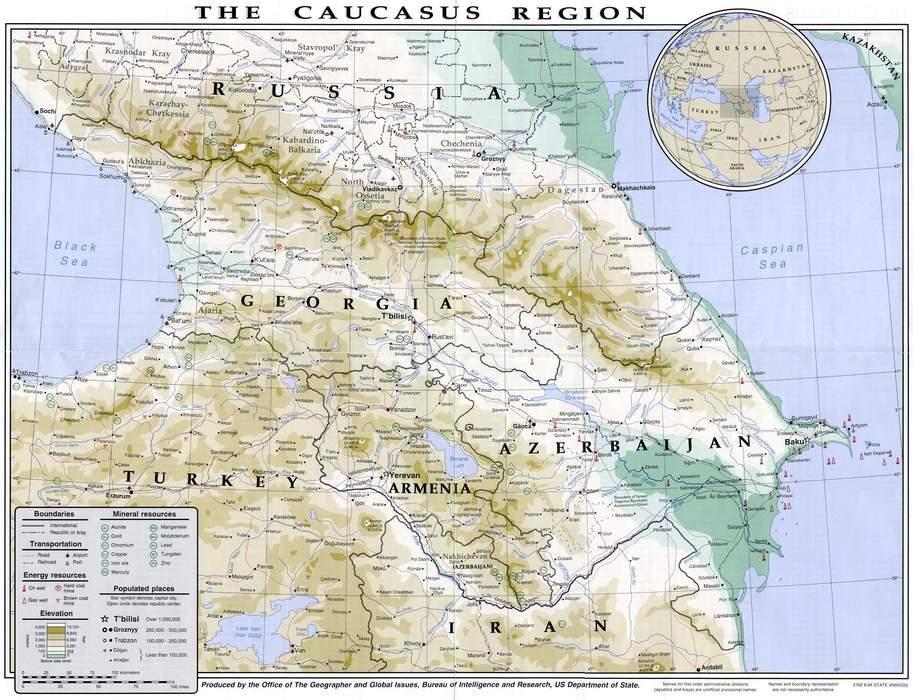 Transcaucasia: Geopolitical region located on the border of Eastern Europe and Western Asia